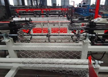 Single Spiral Diamond Chain Link Fence Machine Mesh Hole Size 25-120mm